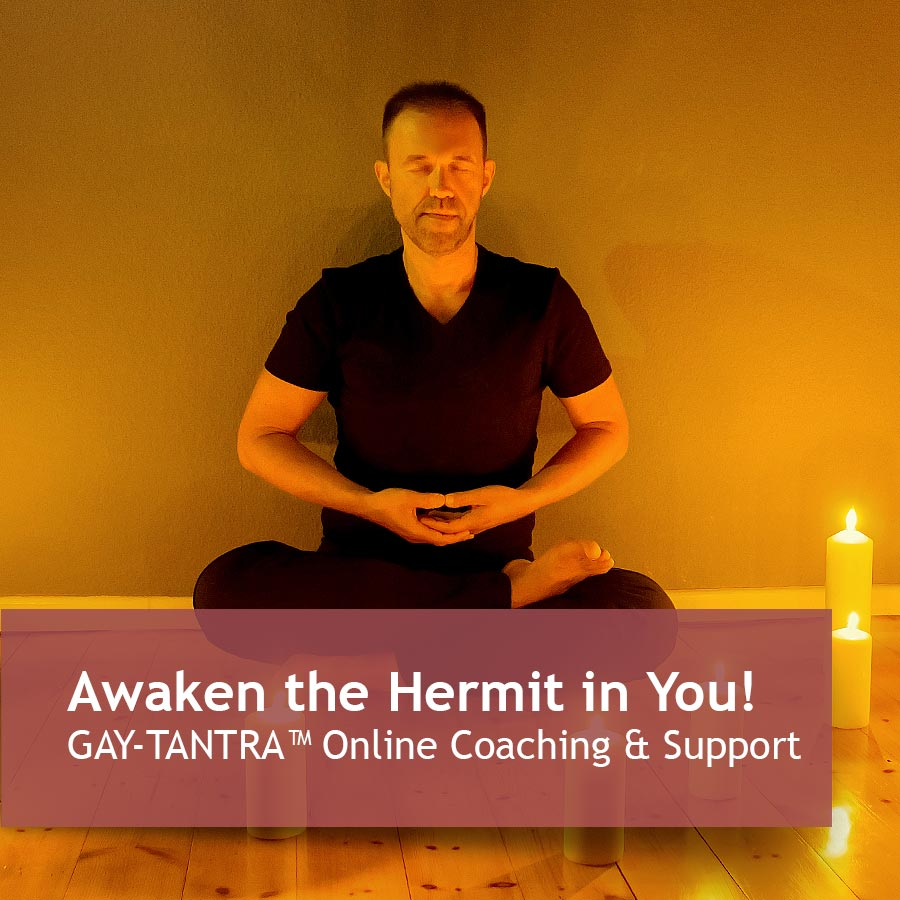 Awaken the Hermit in You! GAY-TANTRA™ Online Coaching & Support