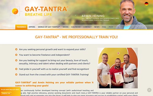 Gay-Tantra® - We professionally train you!